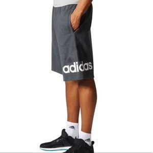 Adidas logo gray men's shorts size xs NWT